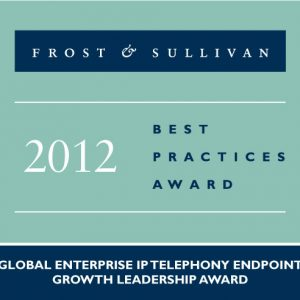2012 Global Enterprise IP Telephony Endpoint Growth Leadership Award