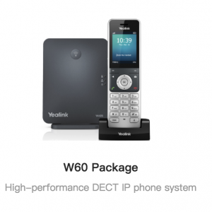 Yealink W60 Package DECT 対応 SIP ワイヤレス 電話機 子機